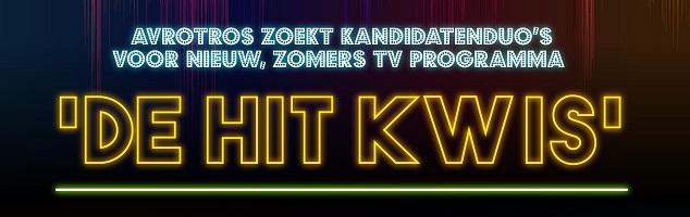 AVROTROS zoekt kandidatenduo's voor een nieuw, zomers muziekspelletje 'De Hit Kwis'.